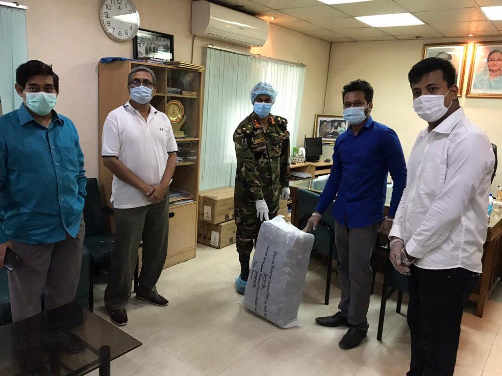 PPE Handover Sheikh Mujib Medical University - PG Hospital