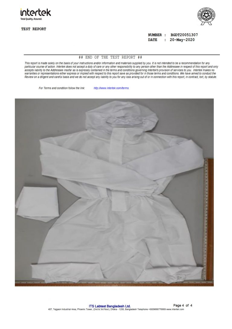 Fiber Fashion PPE Certification 4